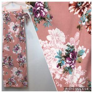 Japan | Boho Floral Faux Wrap Maxi Skirt